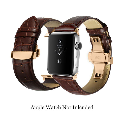 Latest Black Brown Calf Watch Strap for iWatch Series 4 Series 3 2 for Apple Watch Band