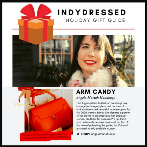 angela mariah handbags indy dressed holiday gift guide