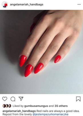 red nails classic chic
