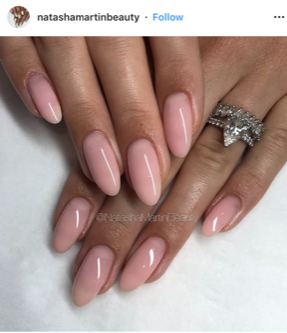 nude natural nails