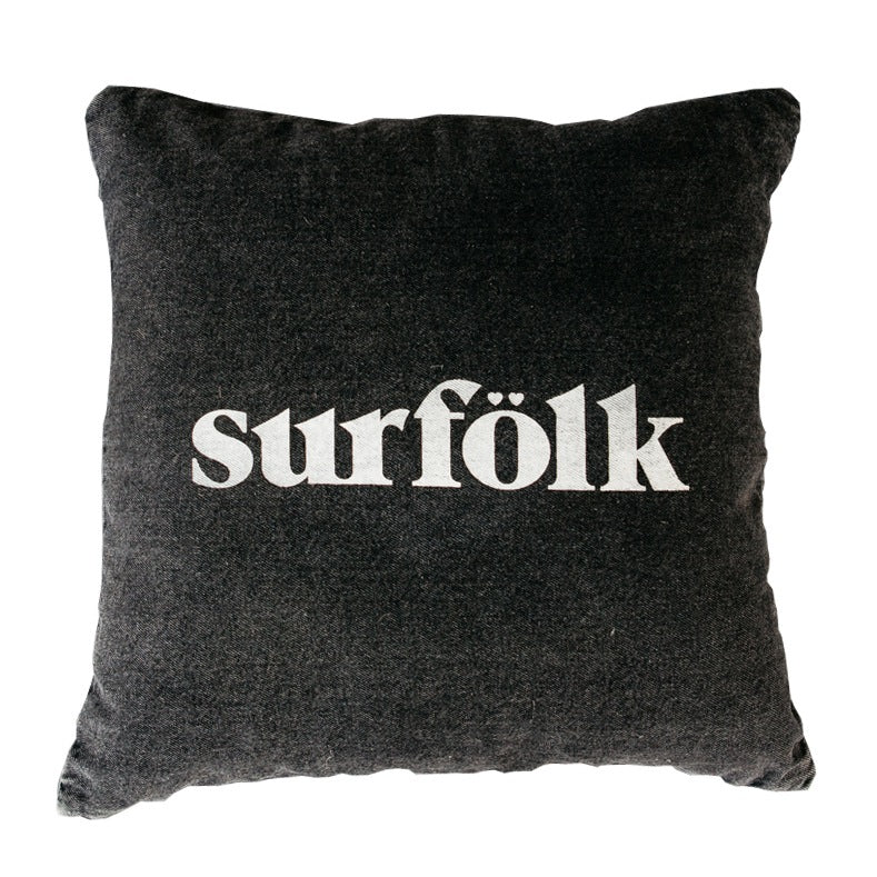 surfolk cushion | black sea