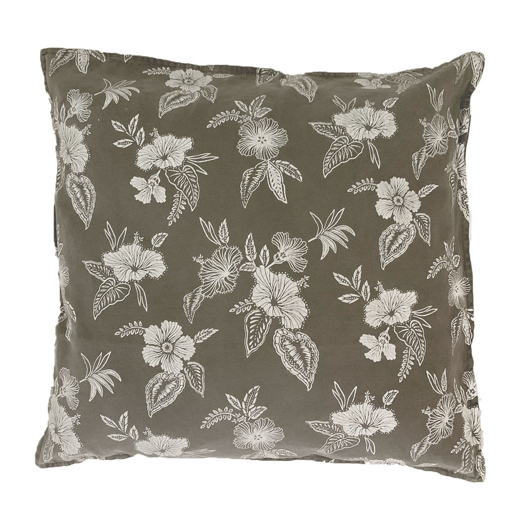 honolulu floral cushion | black fade