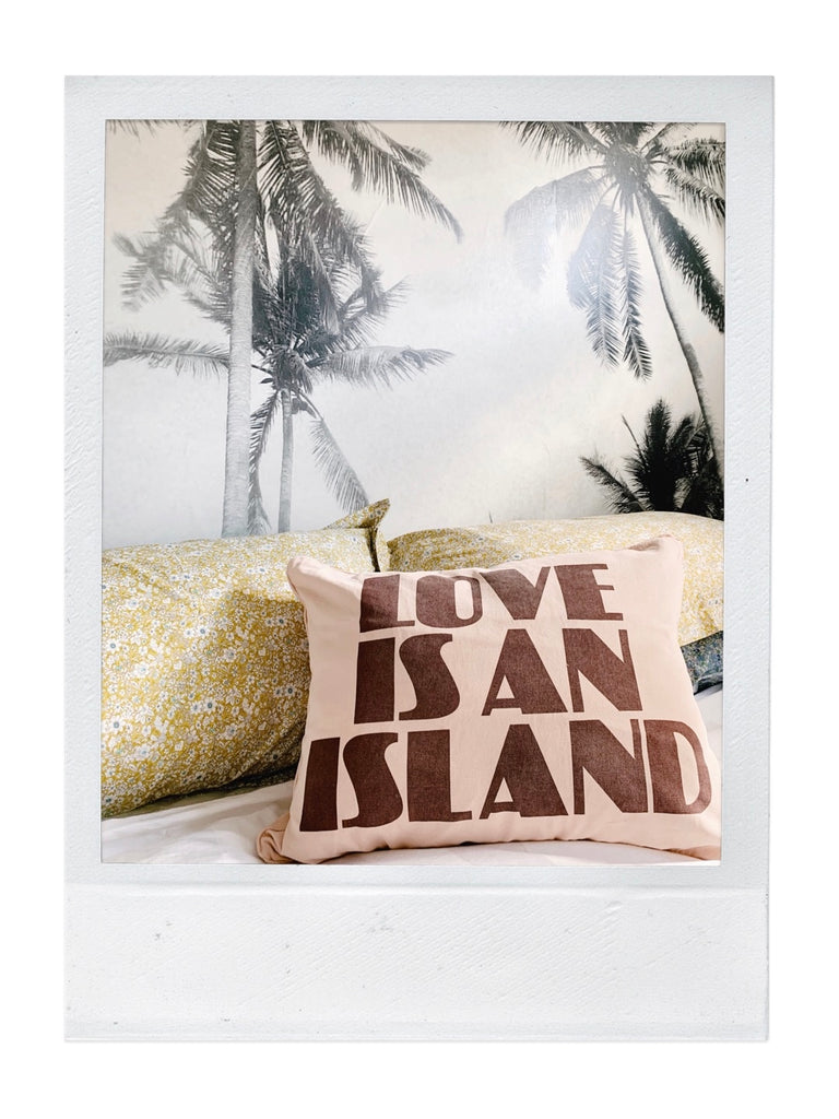 love is an island cushion| peach