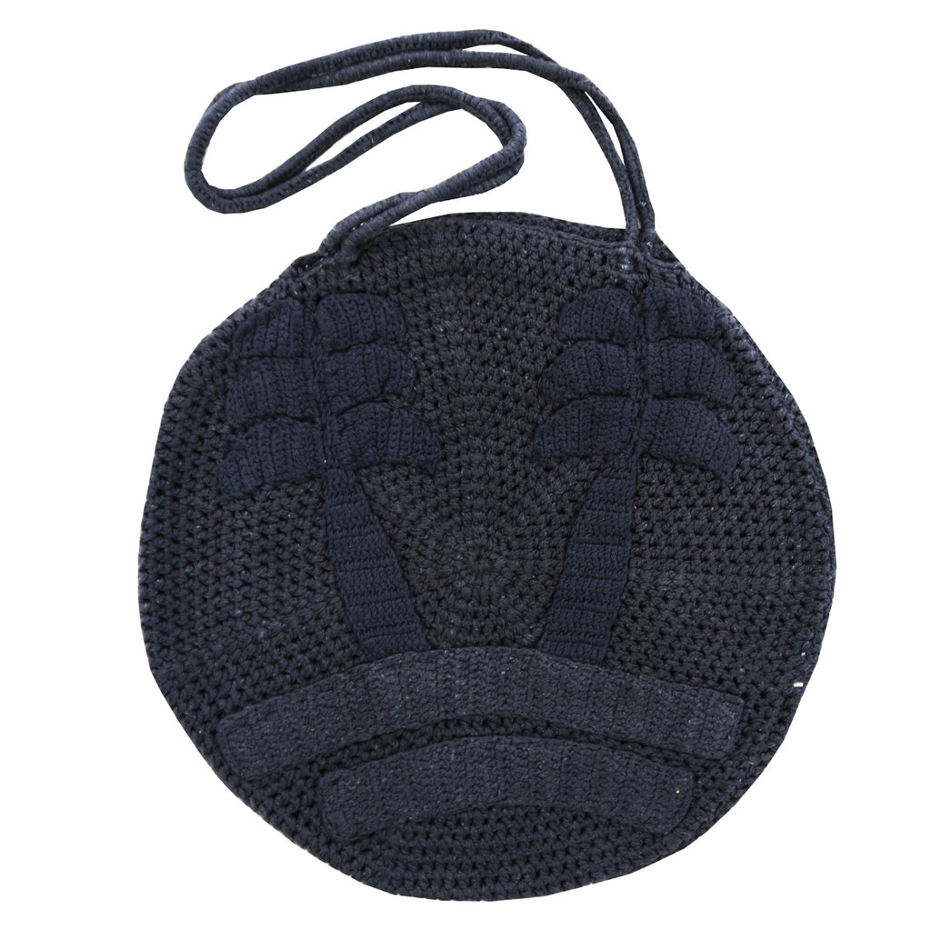 les palmiers circle bag | black sea