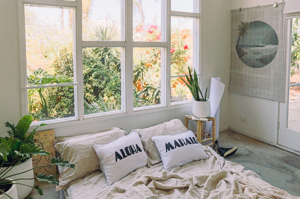 dream mahalo cushion | whitewash