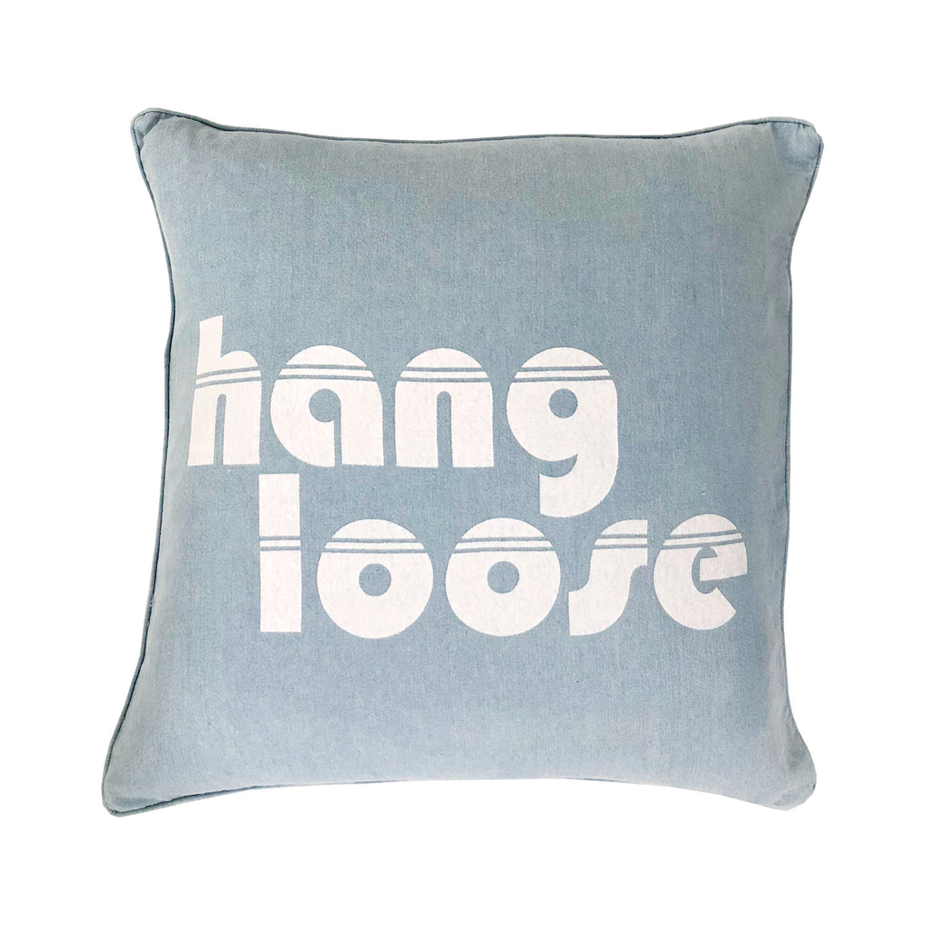 hang loose cushion | denim