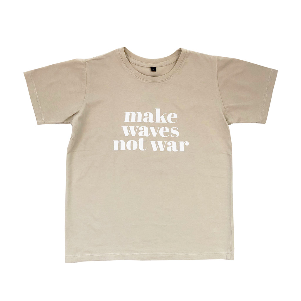 make waves nor war kids tee x drifter | dune
