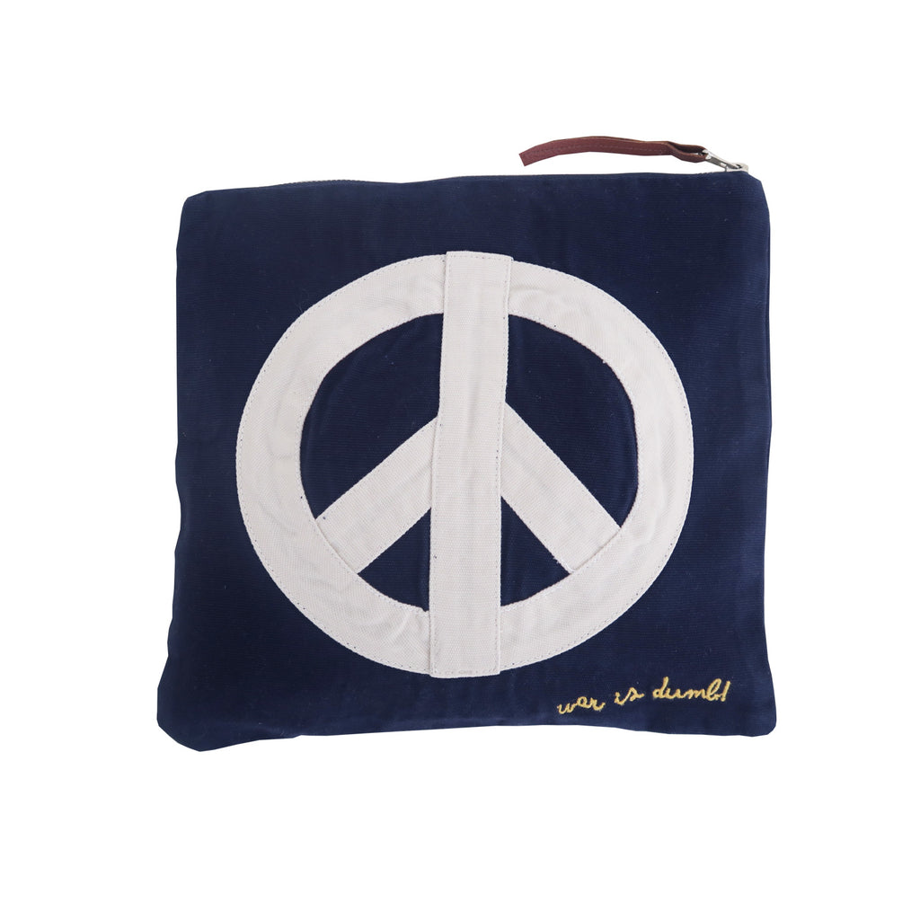 war is dumb! pouch | navy