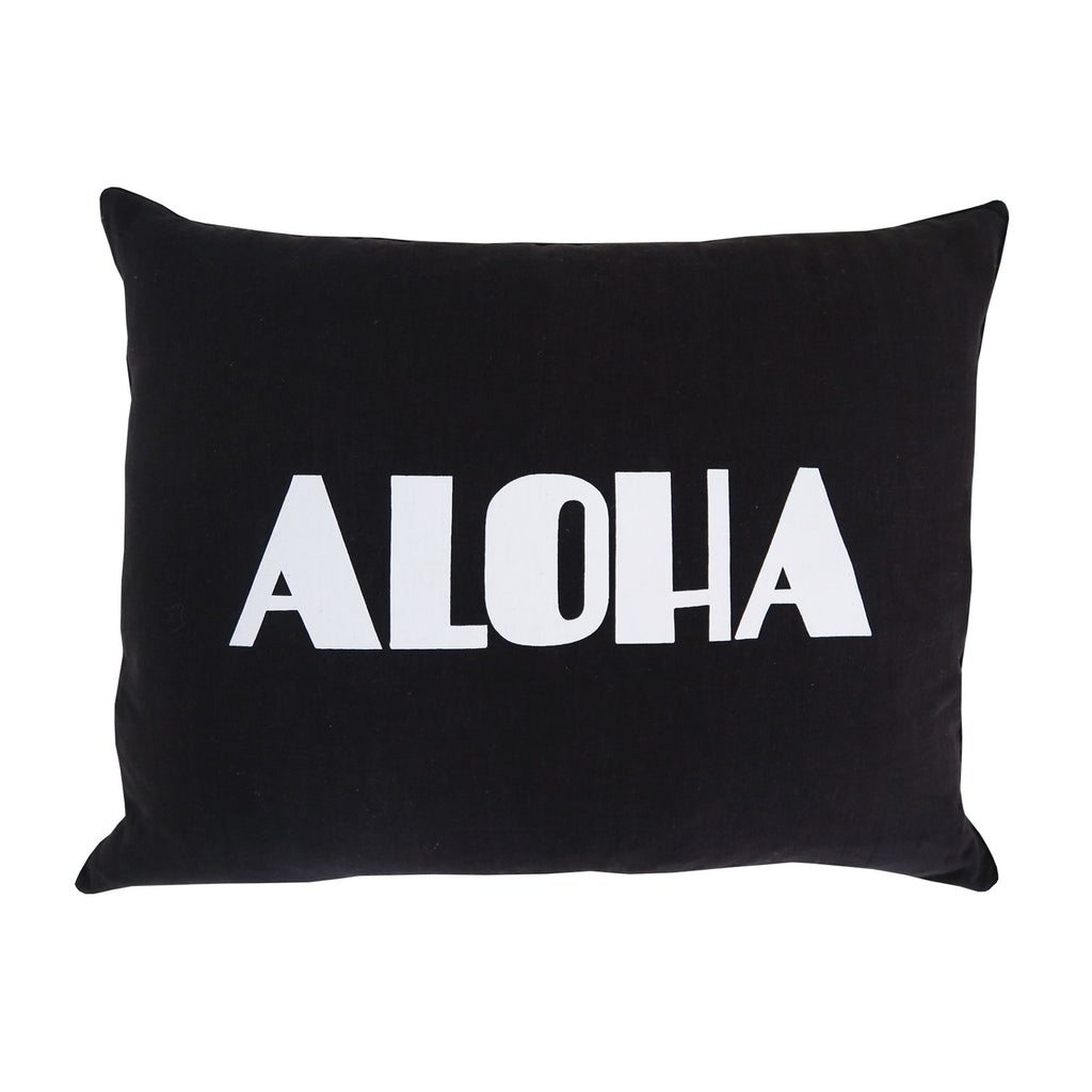 dream aloha cushion | black sea