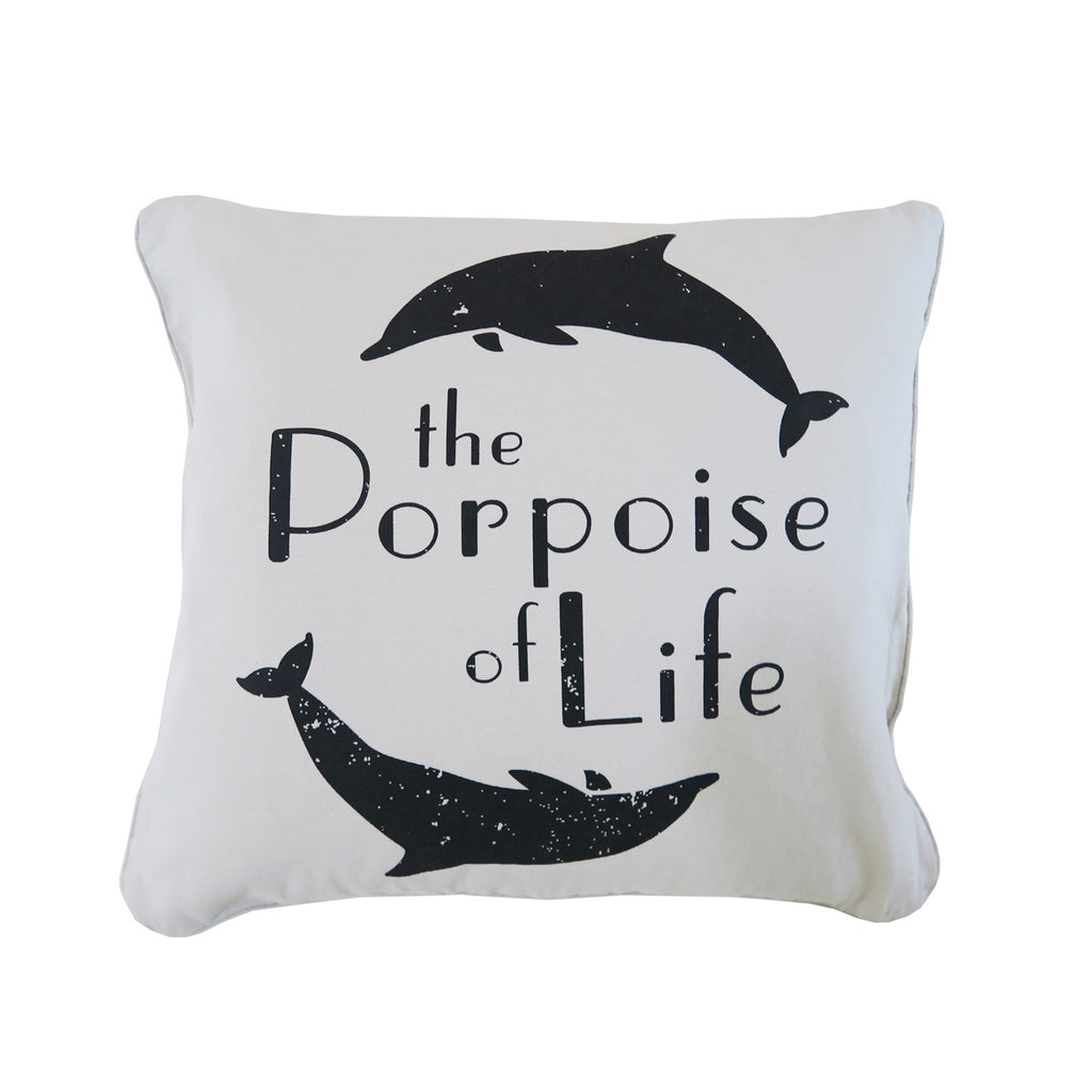 porpoise of life cushion | sand