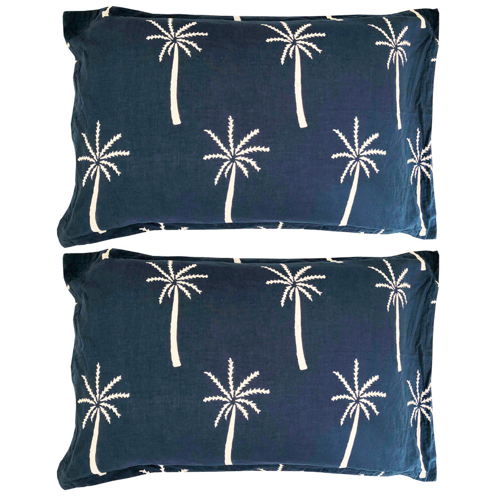 california palm pillow pair