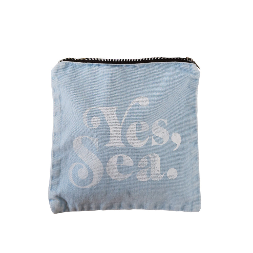 yes, sea pouch | denim