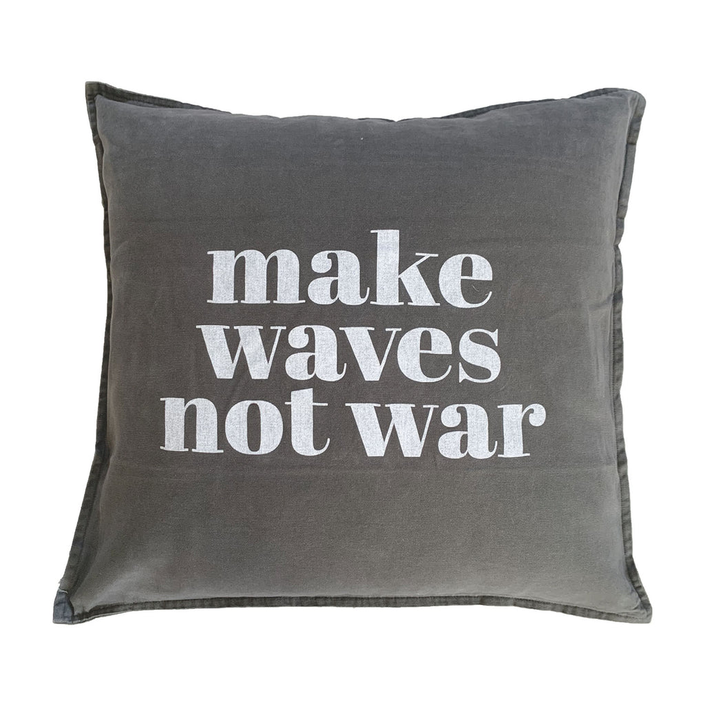 make waves not war | black fade
