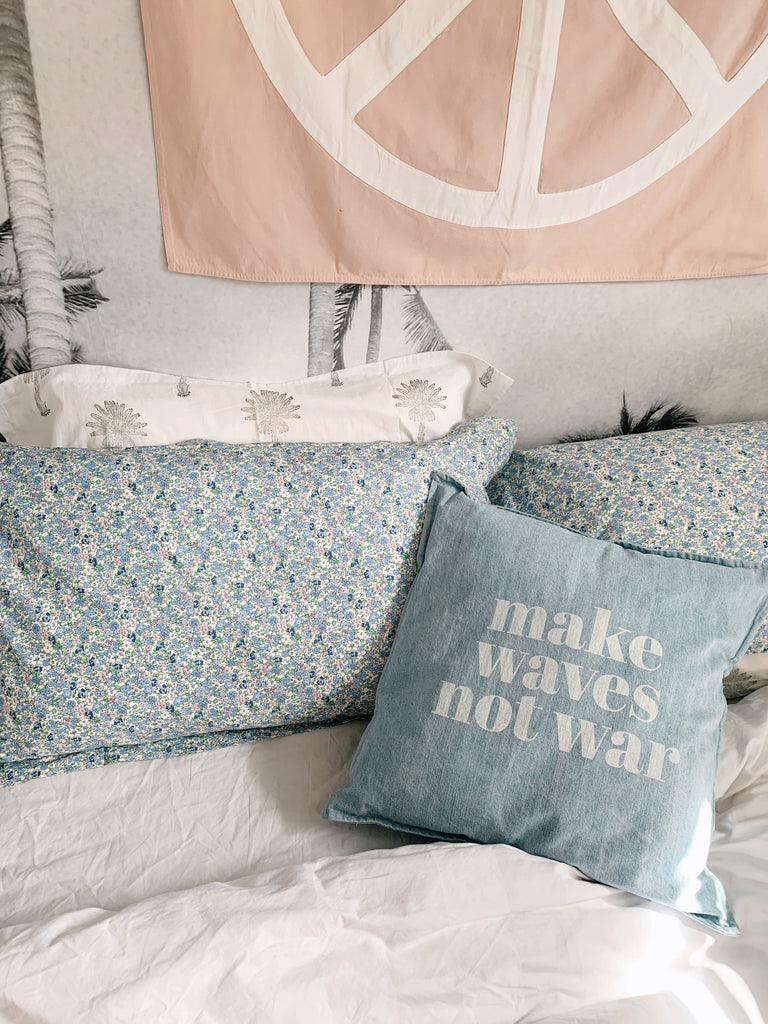 i left my heart in hanalei pillow pair | cornflower ditsy