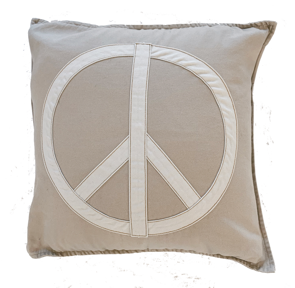 give peace a chance cushion | dune