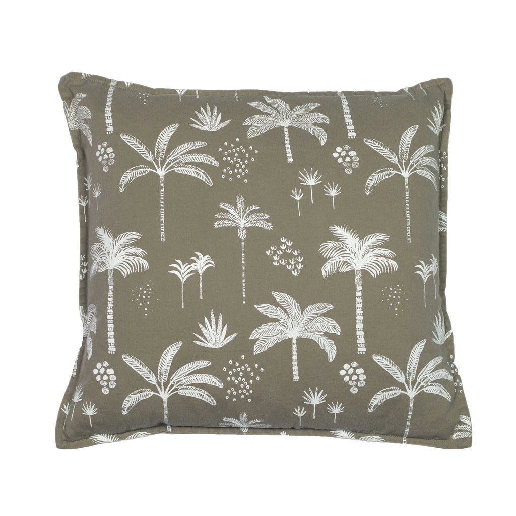 kawaii palm cushion | vintage khaki