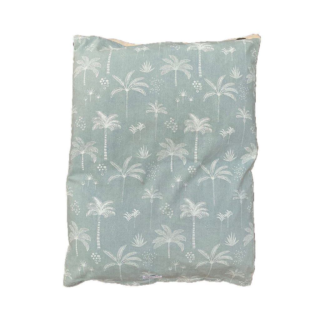kawaii palms floor cushion | denim + blush