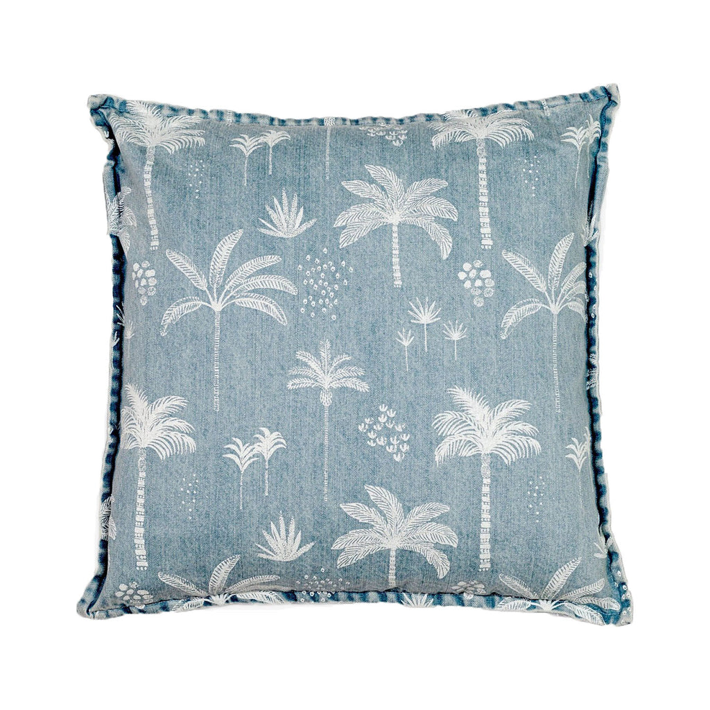 kawaii palms cushion - square | denim