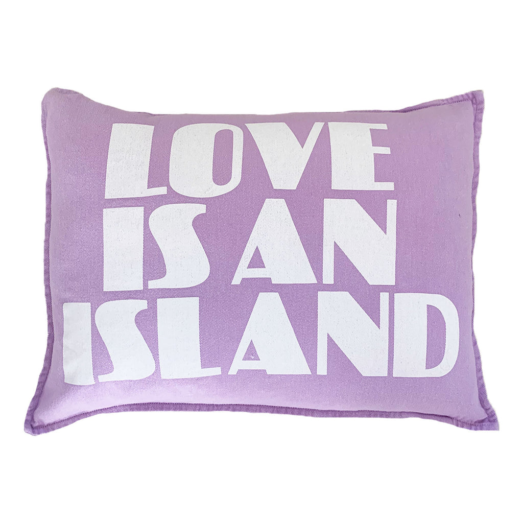 love is an island cushion | lilac