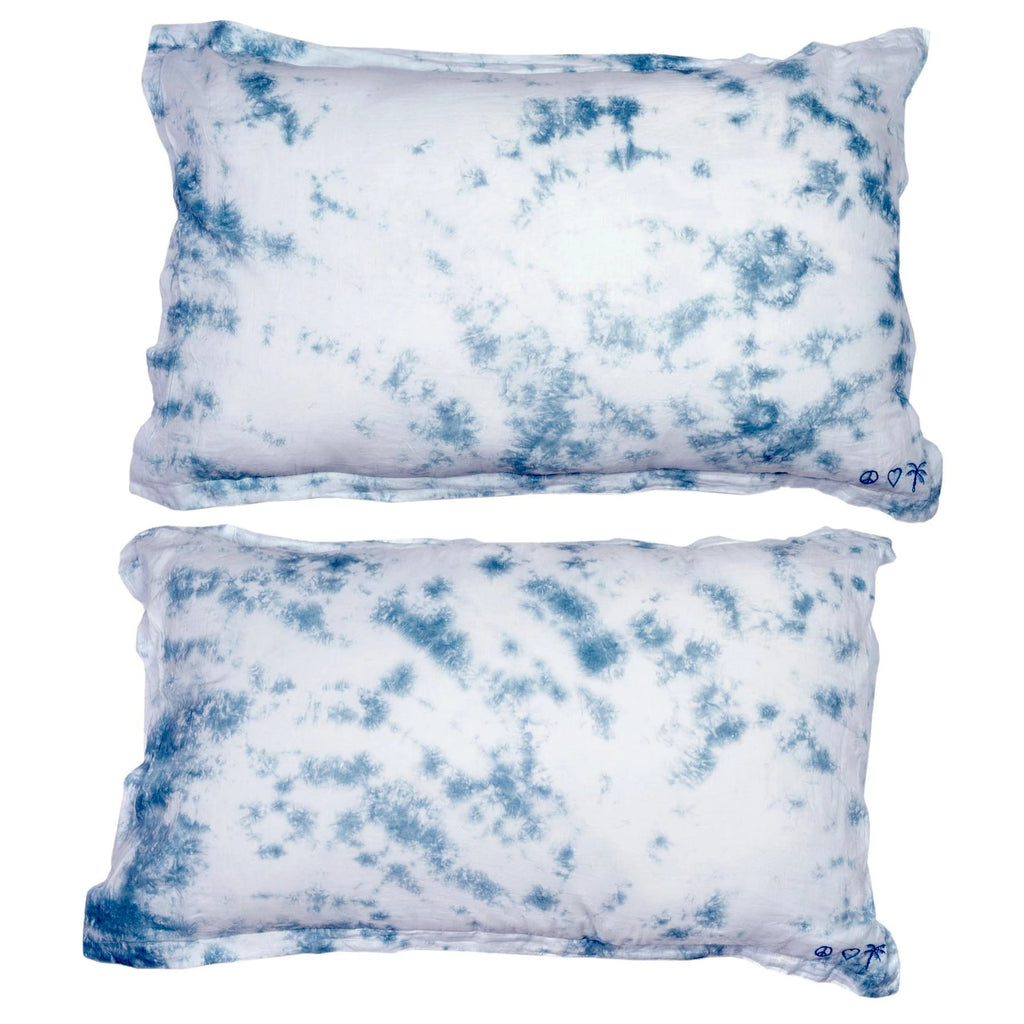 peace, love + palms pillow pair | ocean