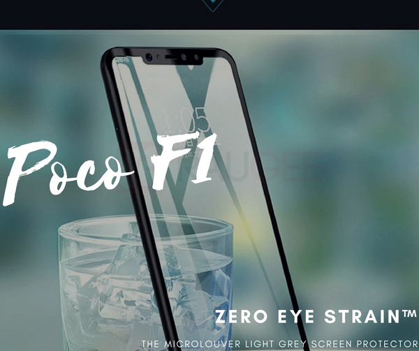 Xiaomi PocoPhone F1  - Fully Covered - Zero Eye Strain™ Micro-Louver Tempered Glass/ Screen Protector.ZES Screen Protectors