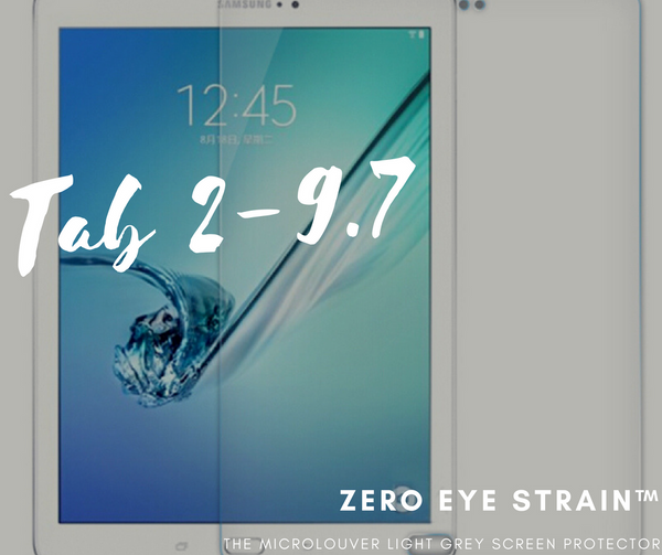 Samsung TAB 2 9.7  Fully Covered - Zero Eye Strain™ Micro-Louver Tempered Glass/ Screen Protector.