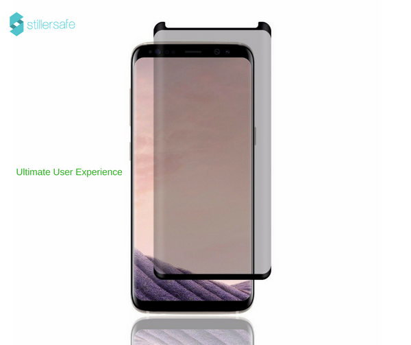 Samsung S8  Micro-louver Screen/Tempered Glass Light Grey ( Privacy Feature Added)ZES Screen Protectors