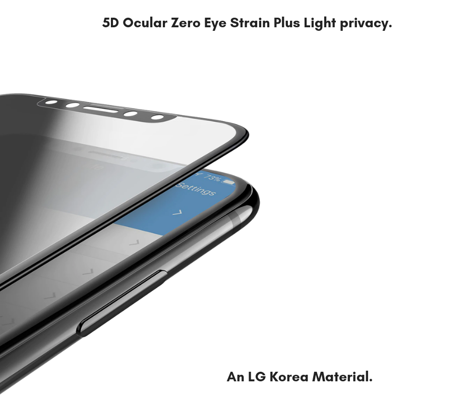 iPhone 11 Pro -  5D Fully Covered  - Zero Eye Strain™   Ocular Tempered Glass. 5D(July 2019 Launched) ALCS Screen.ZES Screen Protectors