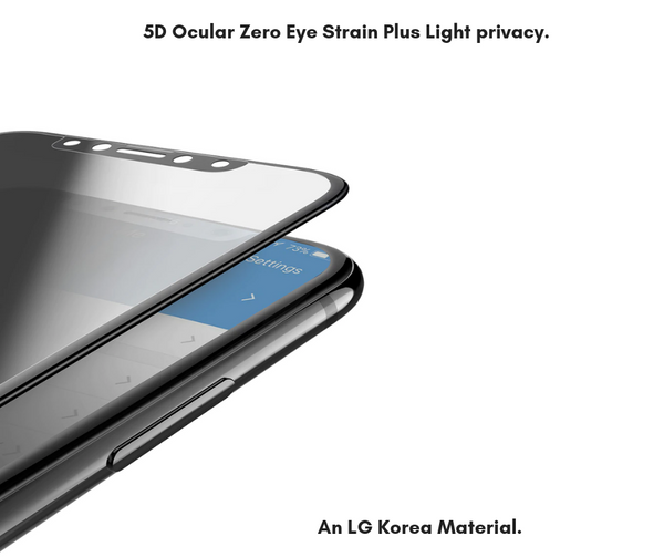 iPhone XR -  5D Fully Covered  - Zero Eye Strain™   Ocular Tempered Glass. 5D(July 2019 Launched) ALCS Screen.ZES Screen Protectors