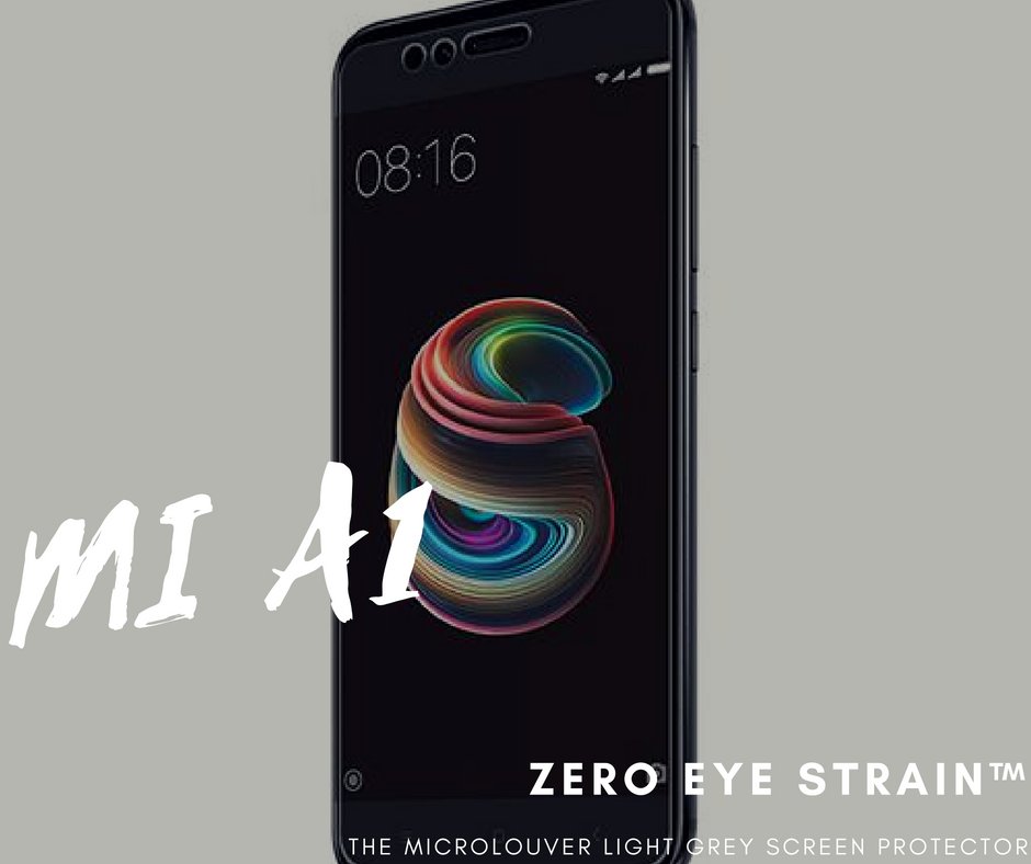 Redmi MiA1  - Fully Covered - Zero Eye Strain™ Micro-Louver Tempered Glass/ Screen Protector.ZES Screen Protectors