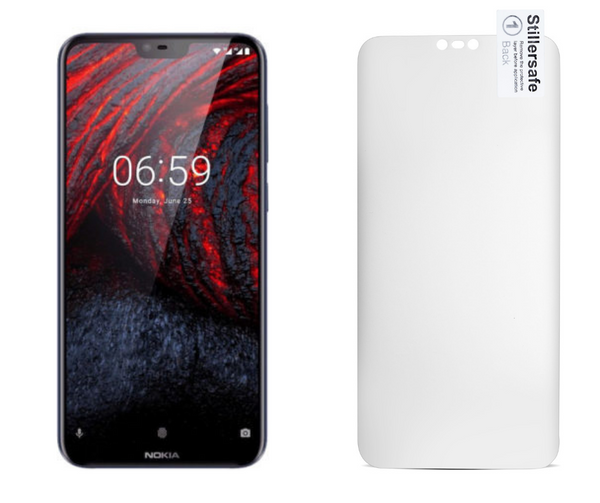 Nokia 6.1 Plus  - Zero Eye Strain™ 3D Micro-Louver/ Tempered Glass Fully Covered. ALCS Screen.ZES Screen Protectors