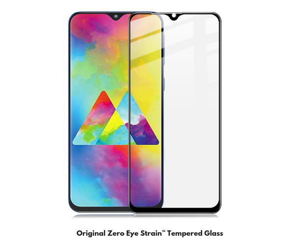 Samsung M20 Fully Covered - Zero Eye Strain™ Micro-Louver Tempered Glass/ Screen Protector.ZES Screen Protectors