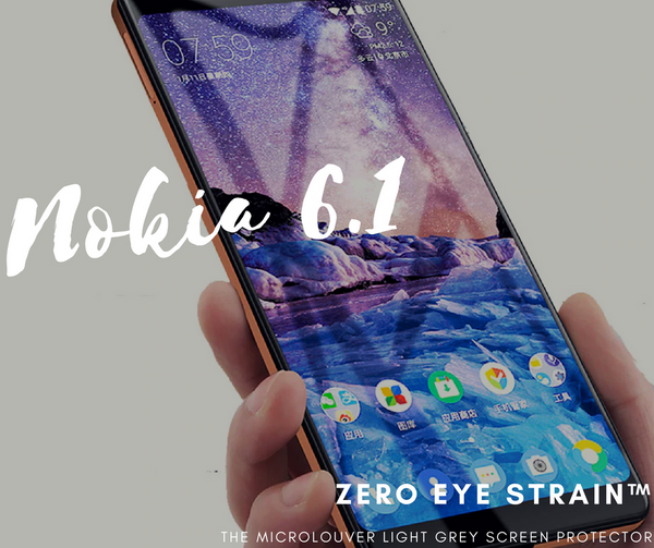Nokia 6.1  Fully Covered - Zero Eye Strain™ Micro-Louver Tempered Glass/ Screen Protector.ZES Screen Protectors