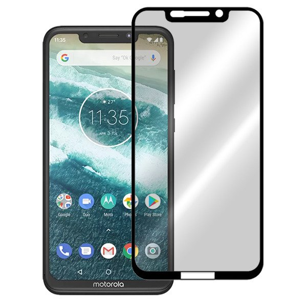 Moto One Power  -   Fully Covered  - Zero Eye Strain™ 5D(July 2019)  Micro-Louver/ Tempered Glass. ALCS Screen.ZES OCULAR Screen Protectors