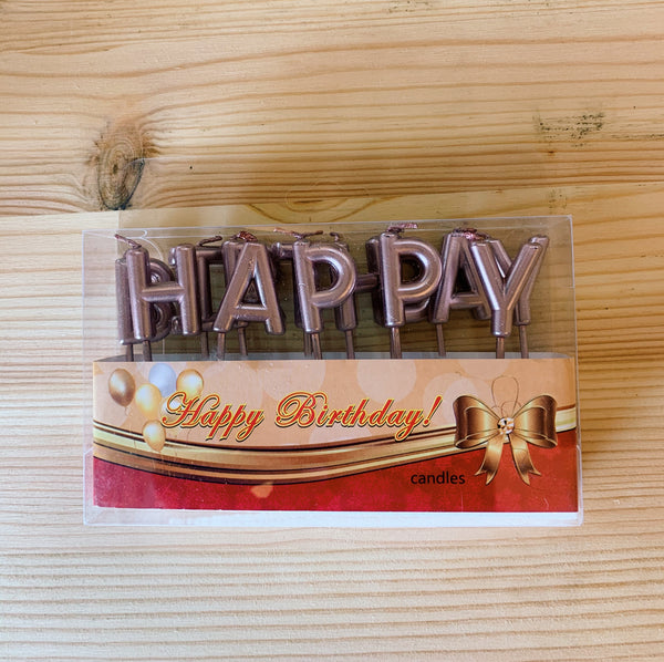 Happy Birthday Individual Alphabet Candle