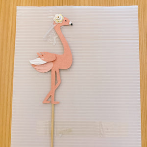 Pink Flamingo Cutout Paper Topper