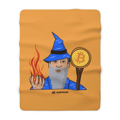 Seasonals Bitcoin Wizard Sherpa Fleece Blanket