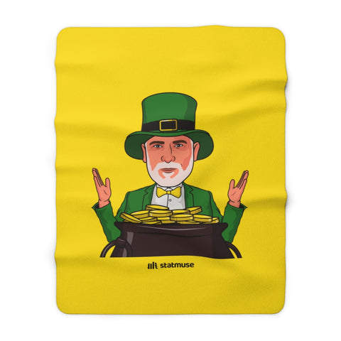 Seasonals PS Leprechaun Sherpa Fleece Blanket