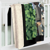 Seasonals Abbey Road Sherpa Fleece Blanket