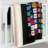 Seasonals Basketball Pi Sherpa Fleece Blanket