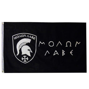 Bandeira Molon Labe - Come and Take It | Venha e pegue - ΜΟΛΩΝ ΛΑΒΕ - Mundo Armamentista