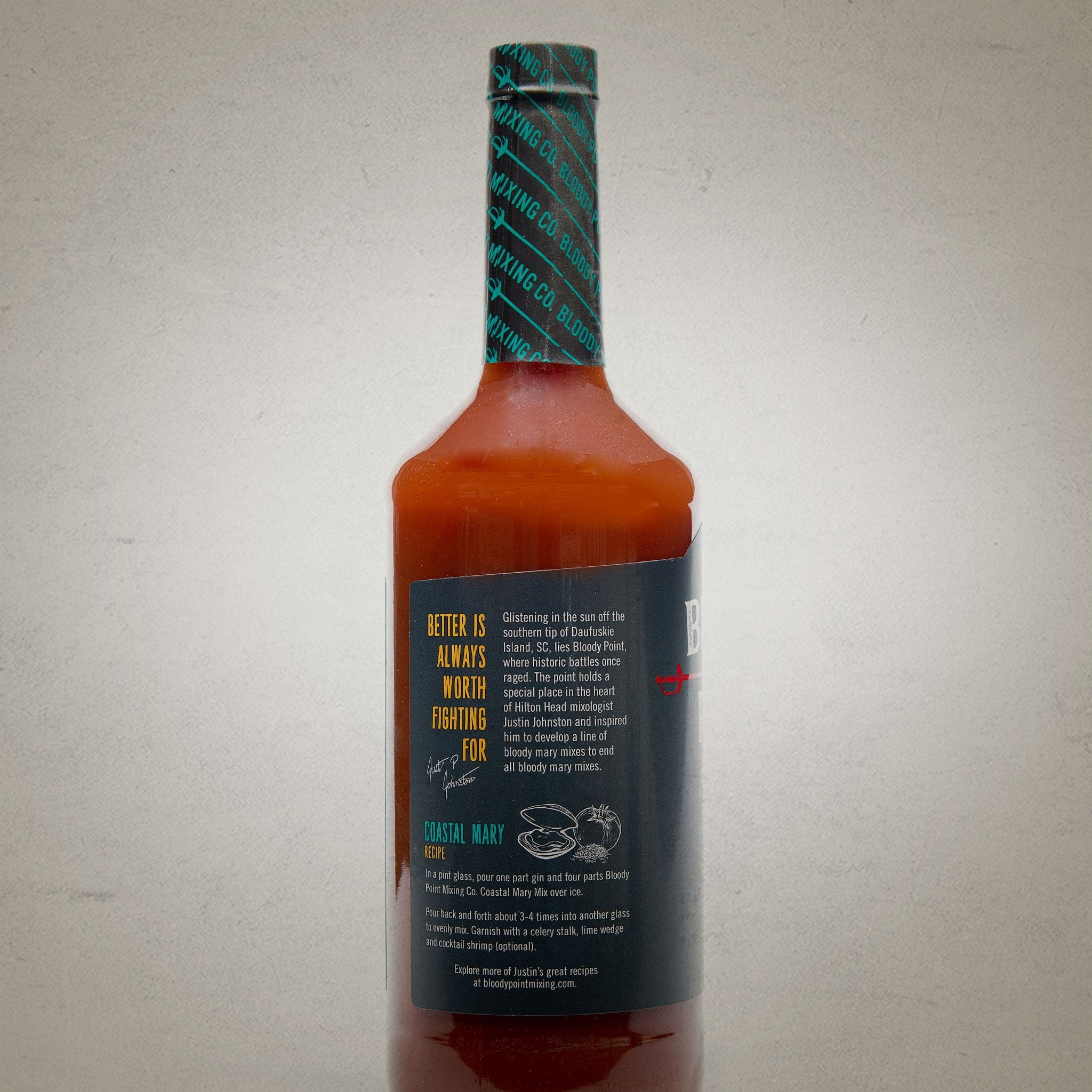 The Coastal Mary Back of Bottle