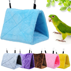 Soft Plush Hanging Cave Parrot Cage Toy - YourSmartPets