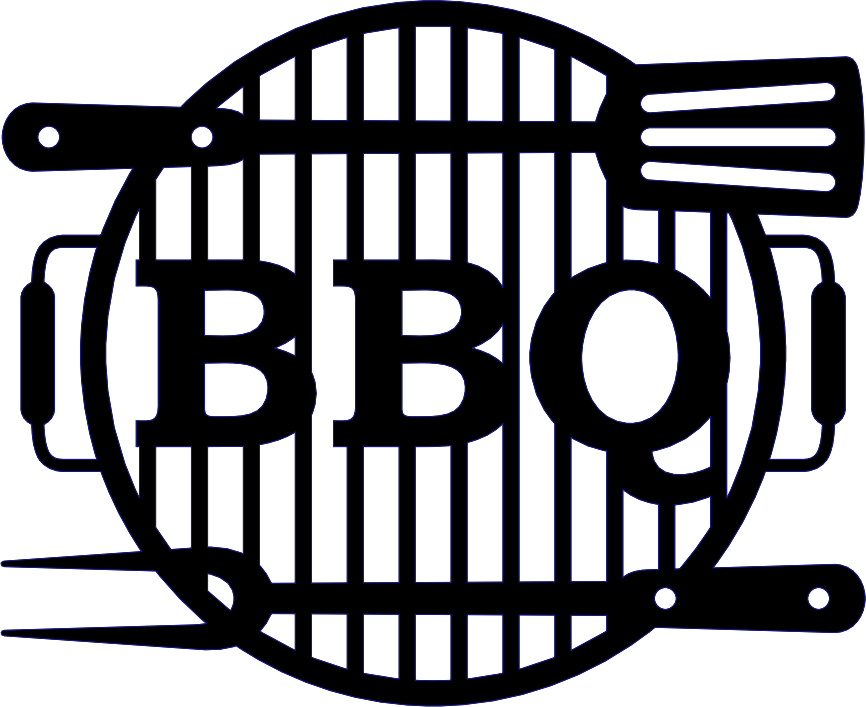 BBQ Grill metal wall art