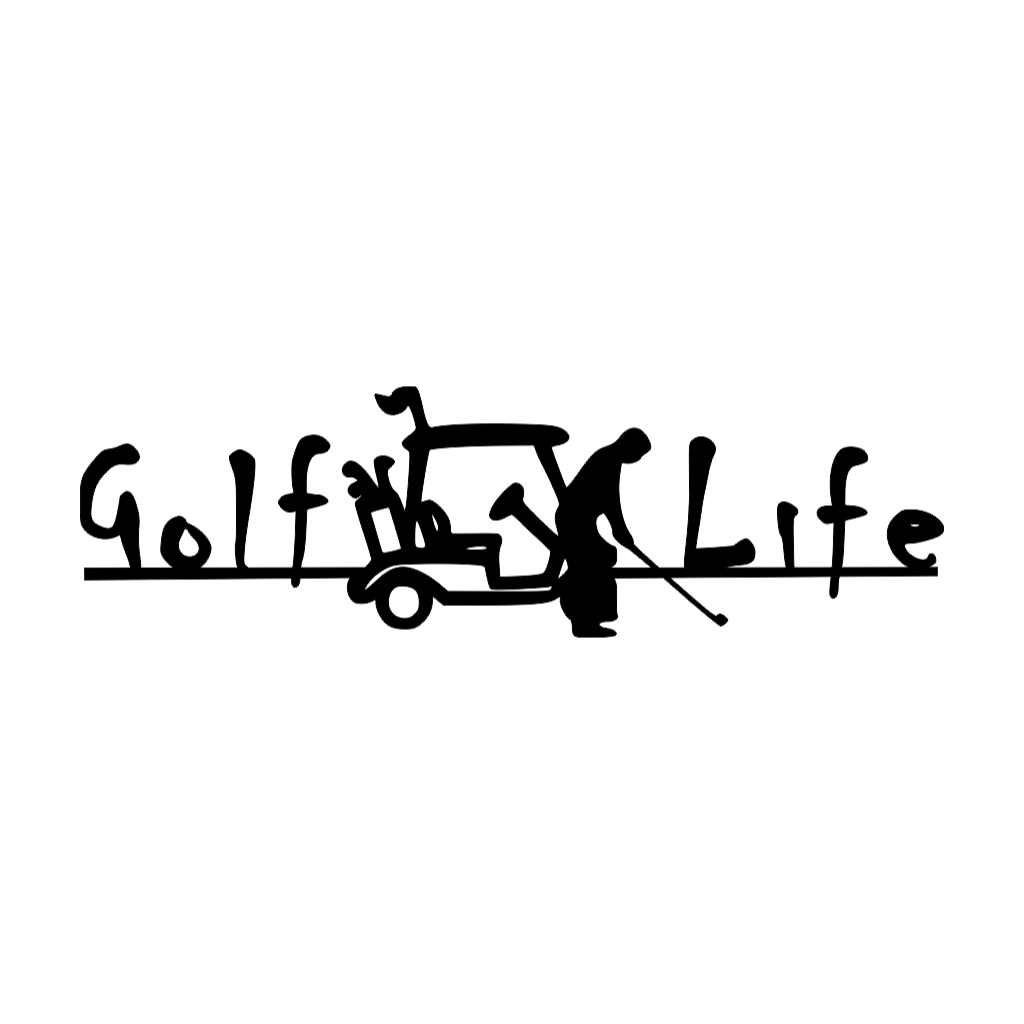 Golf Life metal wall art