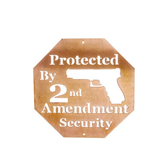 2nd Amendment metal wall art