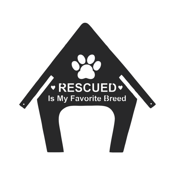 Rescued Dog sign metal wall art