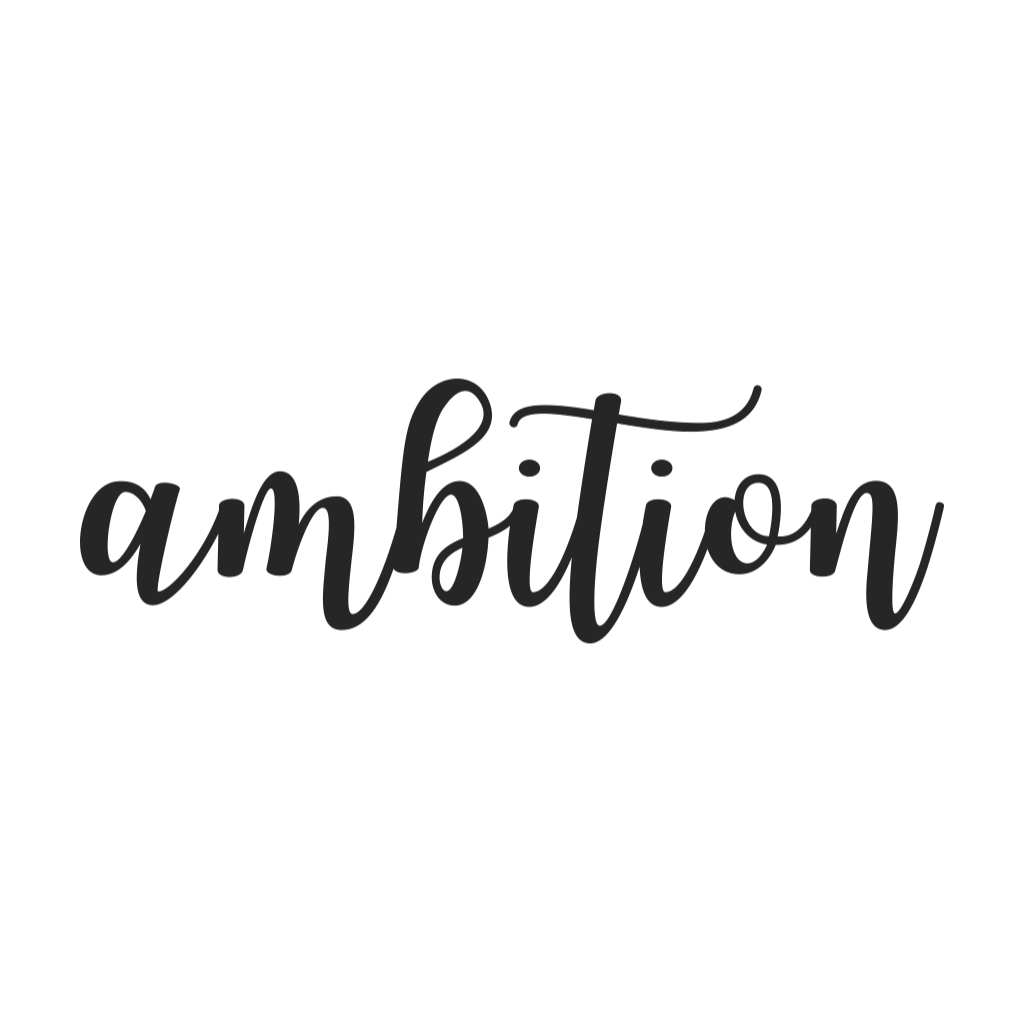 Ambition Cursive Metal Wall Art