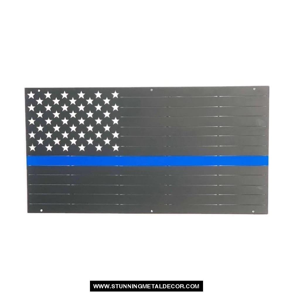 American Flag First Responder Police Metal Wall Art