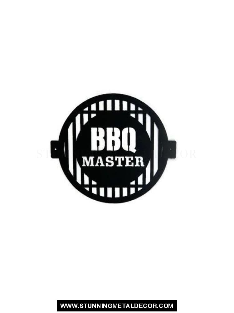 Bbq Master Metal Wall Art Black Signs